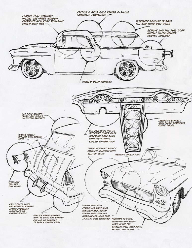 55 Chevy Pickup Wiring Diagram