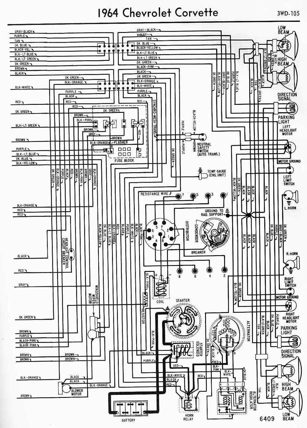 medium resolution of 1000x1392 wiring diagram for 1964 impala