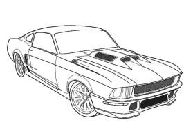 Ausmalbilder Ford Mustang   Ausmalbilder