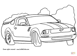 67 Mustang Drawing at GetDrawings | Free for personal