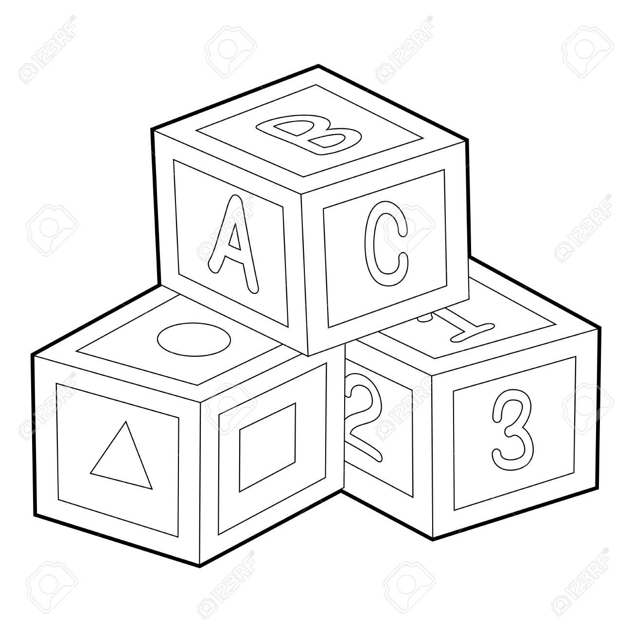 Abc Blocks Drawing At Getdrawings