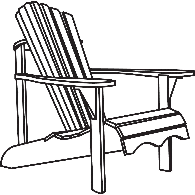 Adirondack Chairs Drawing At Getdrawings