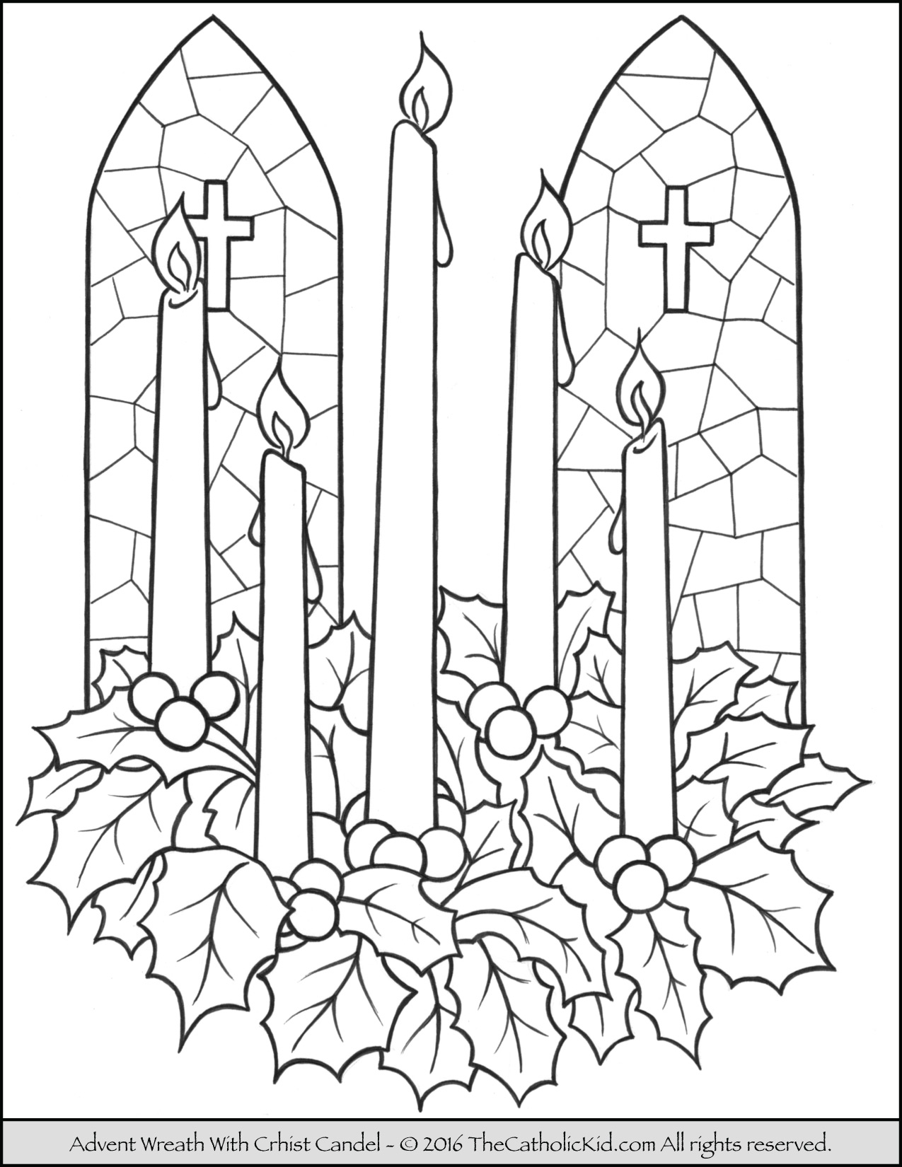 Advent Candles Drawing At Getdrawings