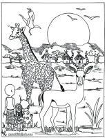 African Safari Drawing at GetDrawings   Free download