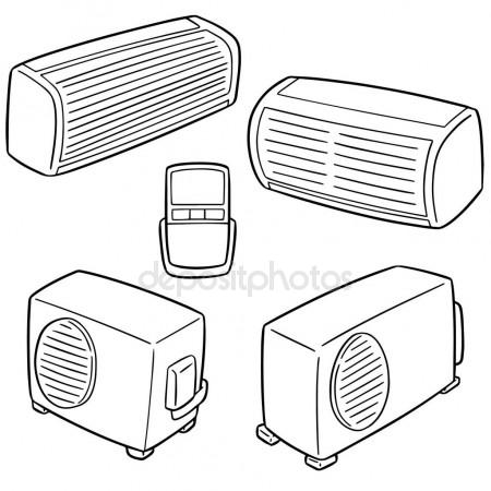 air conditioner drawing at