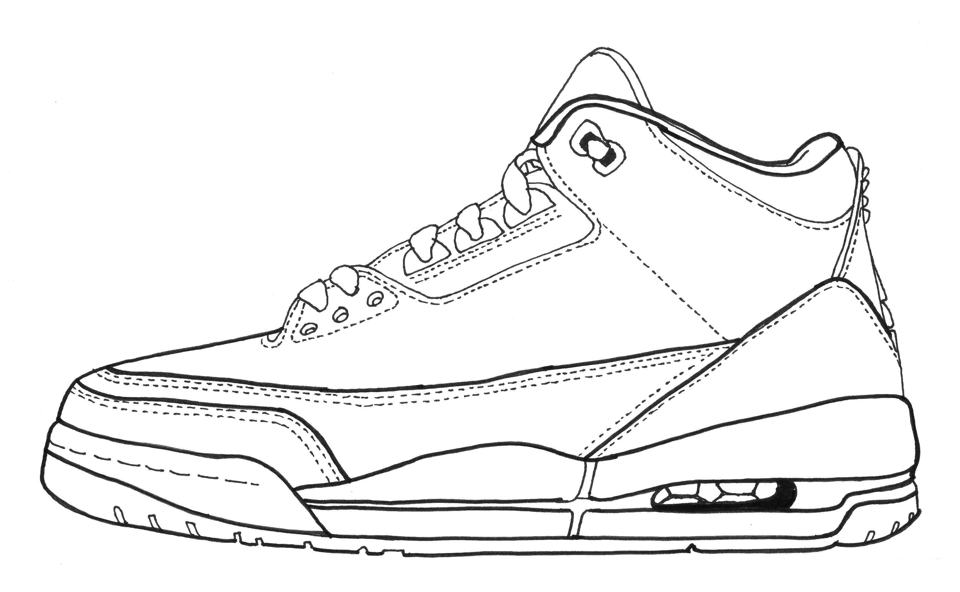 promo code 079ab 2c825 air jordan 3 outline