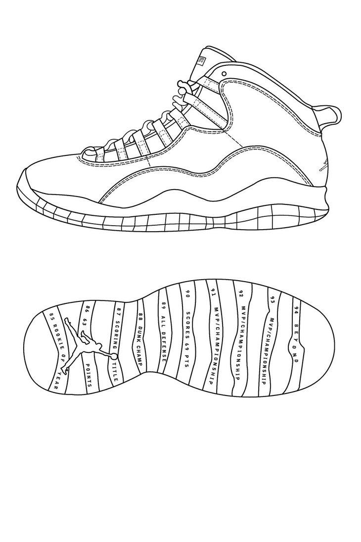Drawing Jordans : drawing, jordans, Jordan, Drawing, GetDrawings, Download
