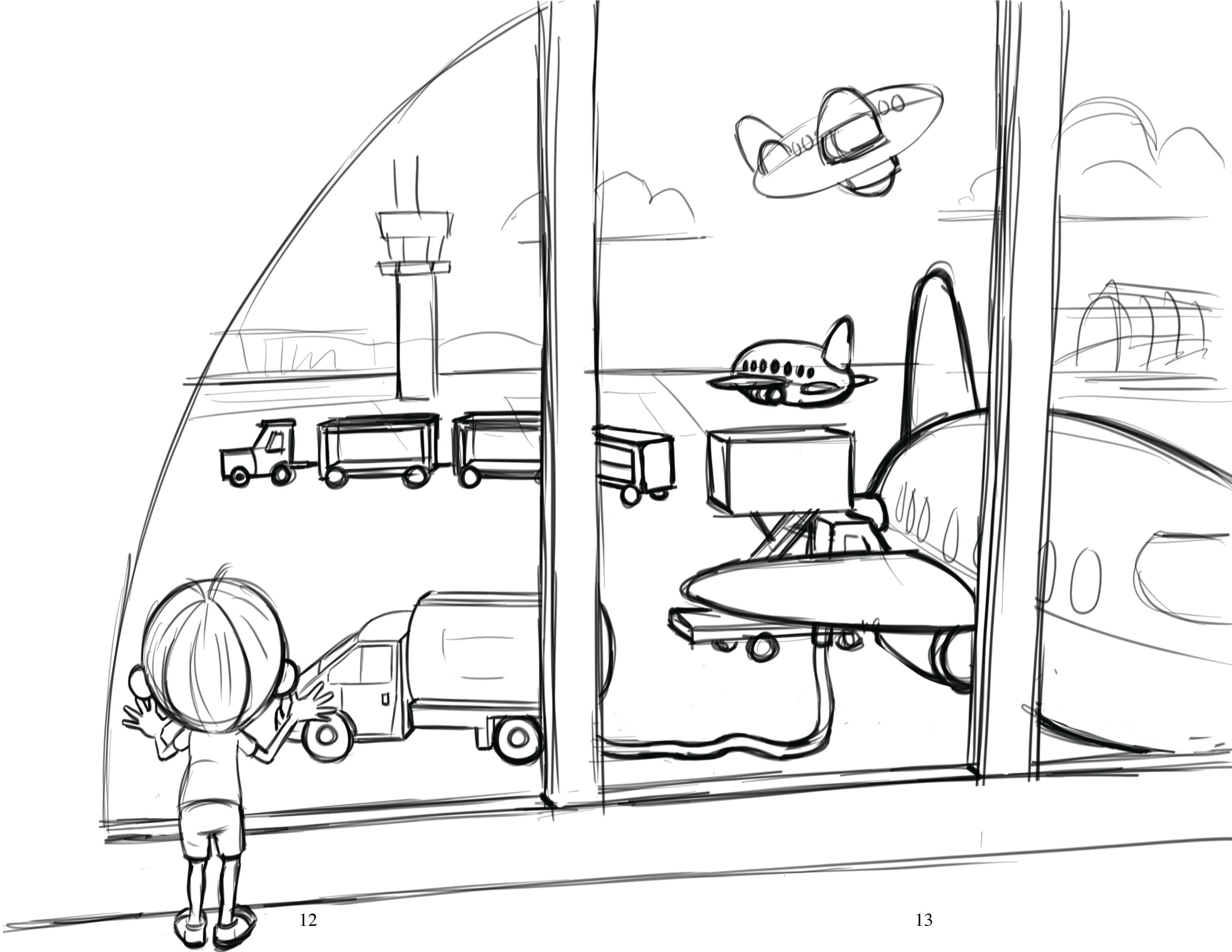 Airport Drawing At Getdrawings