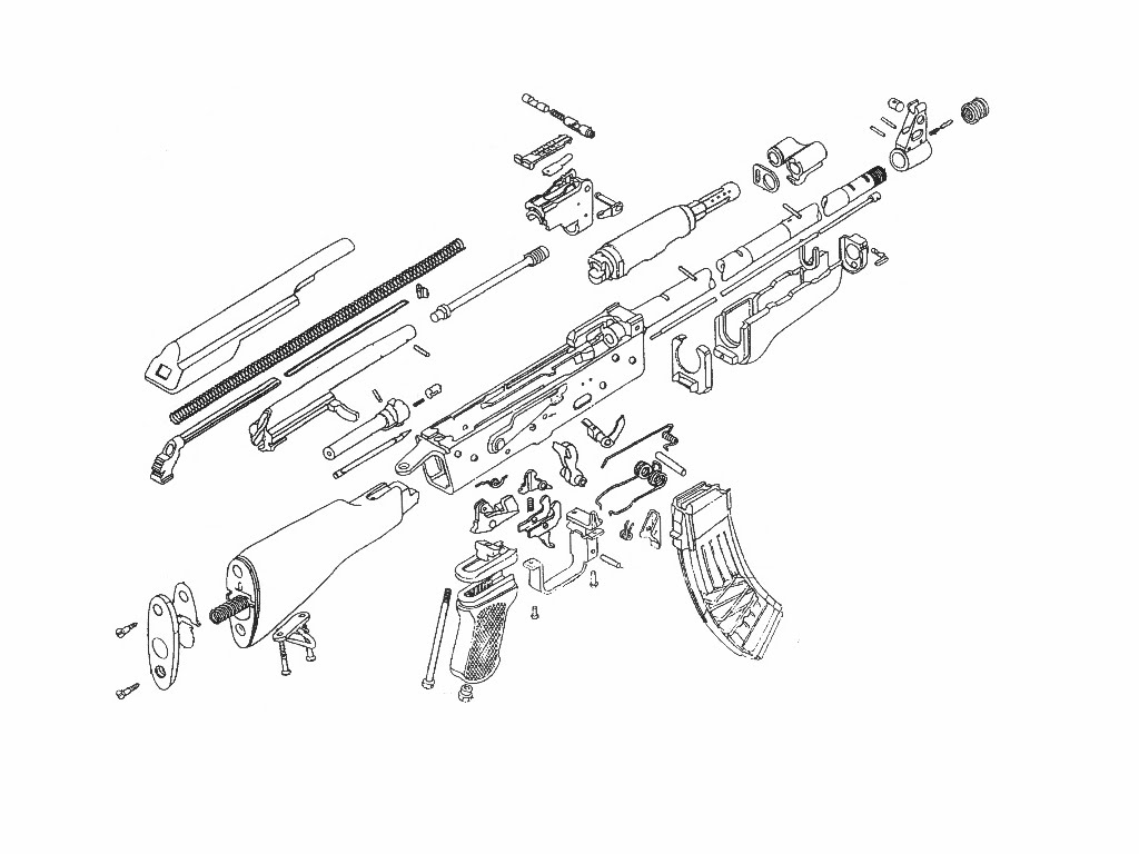 Ak 47 Drawing At Getdrawings