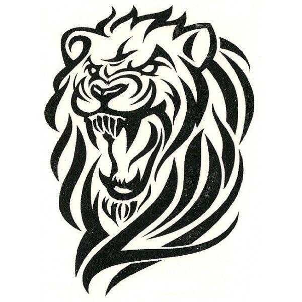 Simple Lion Tribal Tattoo