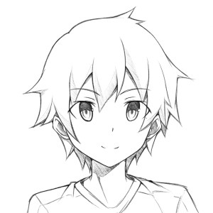 anime boy easy drawing drawings sketch face manga boys step draw coloring pages getdrawings sketches paintingvalley pencil guy head hair