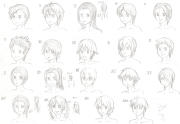anime guy hairstyles drawing