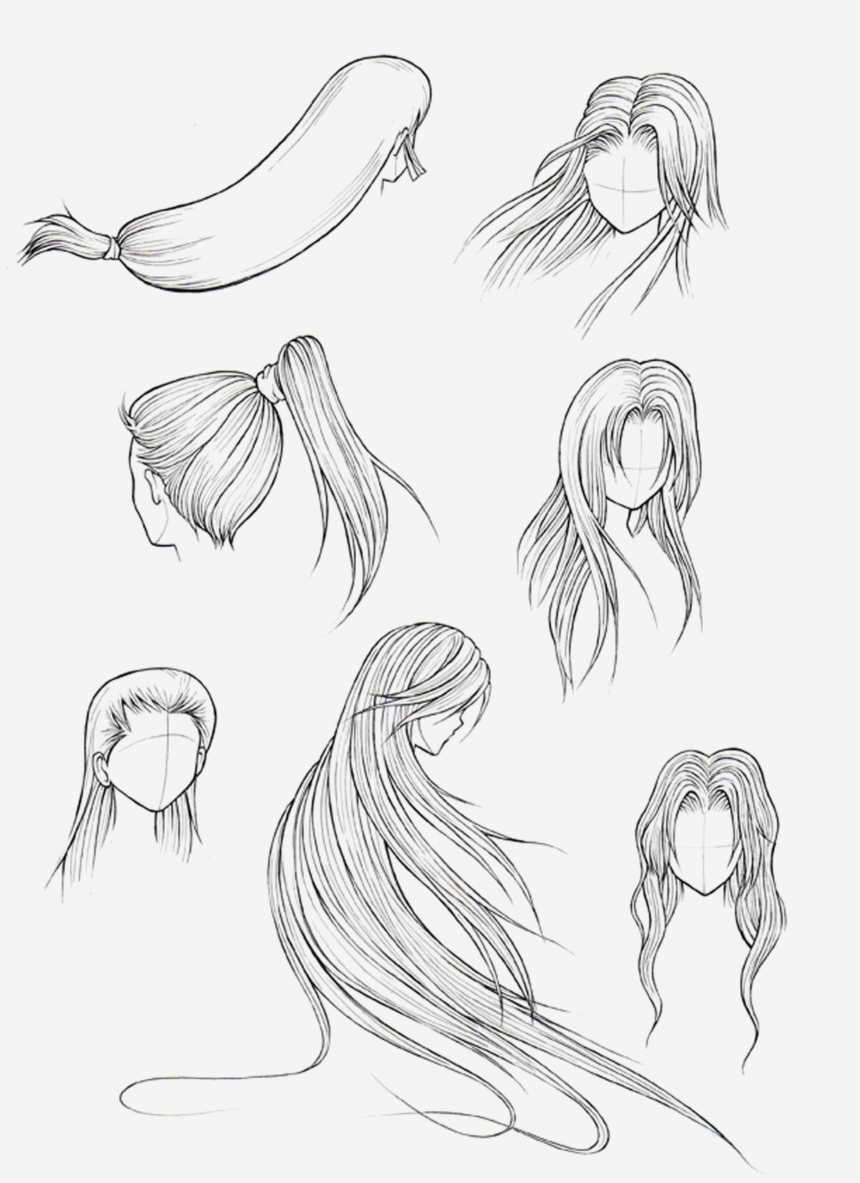 Anime Hairstyles Drawing At Getdrawings