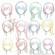anime hairstyles drawing