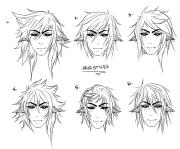 anime male hair drawing