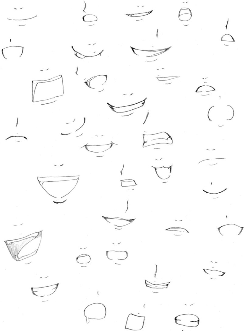 How To Draw An Anime Mouth : anime, mouth, Anime, Mouths