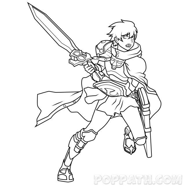 anime warrior drawing at getdrawings  free download