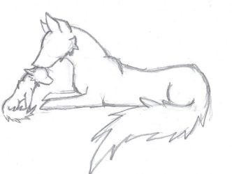 wolf drawing easy drawings pup simple anime cute cool sketch cartoon howling getdrawings deviantart x3 drawn