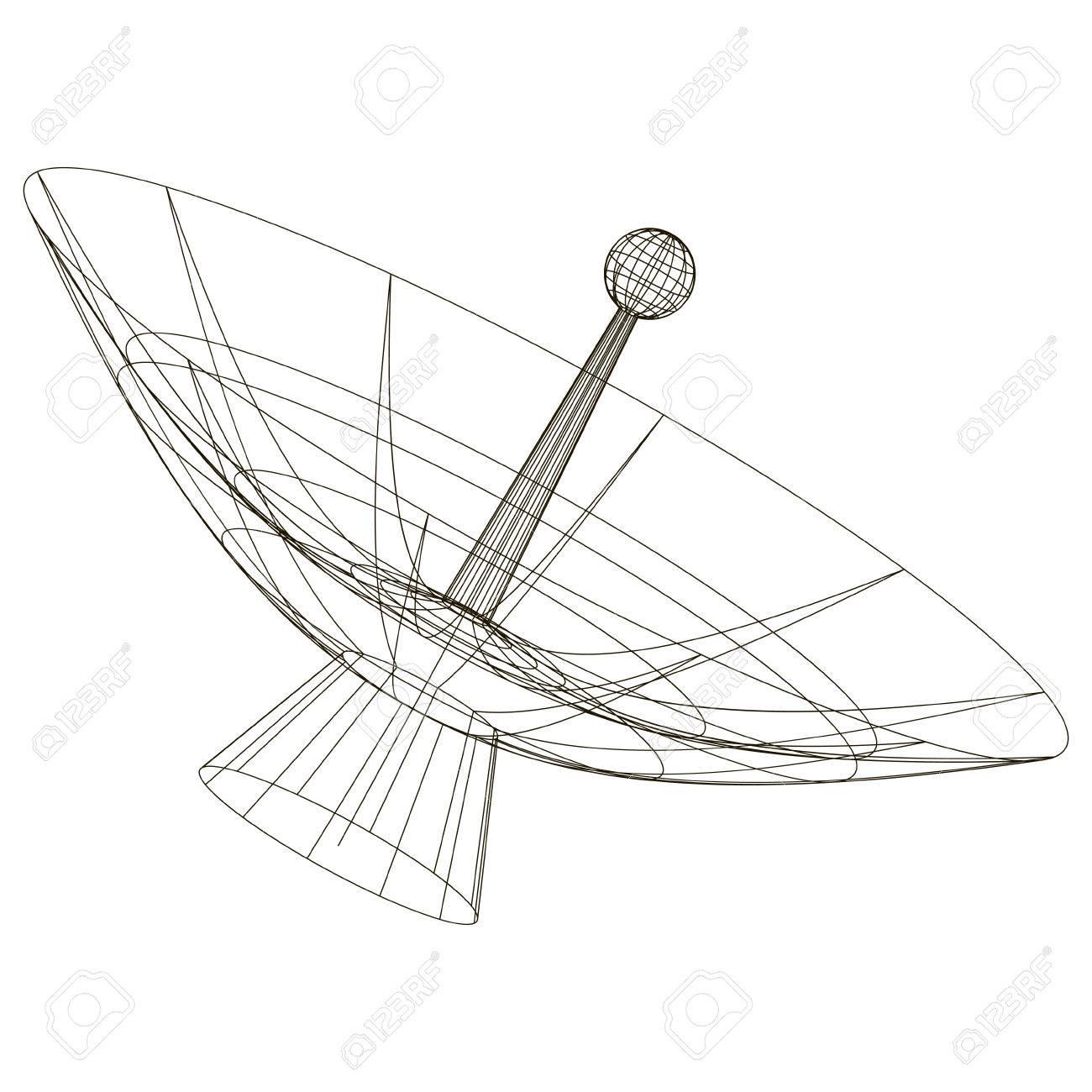 Antenna Tower Drawing At Getdrawings