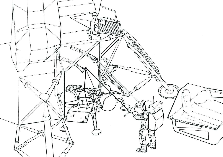 Apollo 11 Drawing At Getdrawings