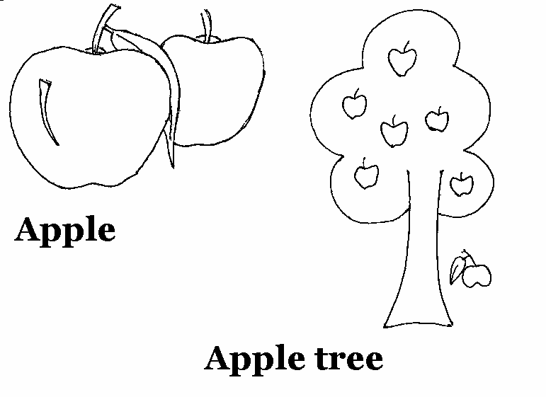 Color Page Of A Worm In An Apple For Kids
