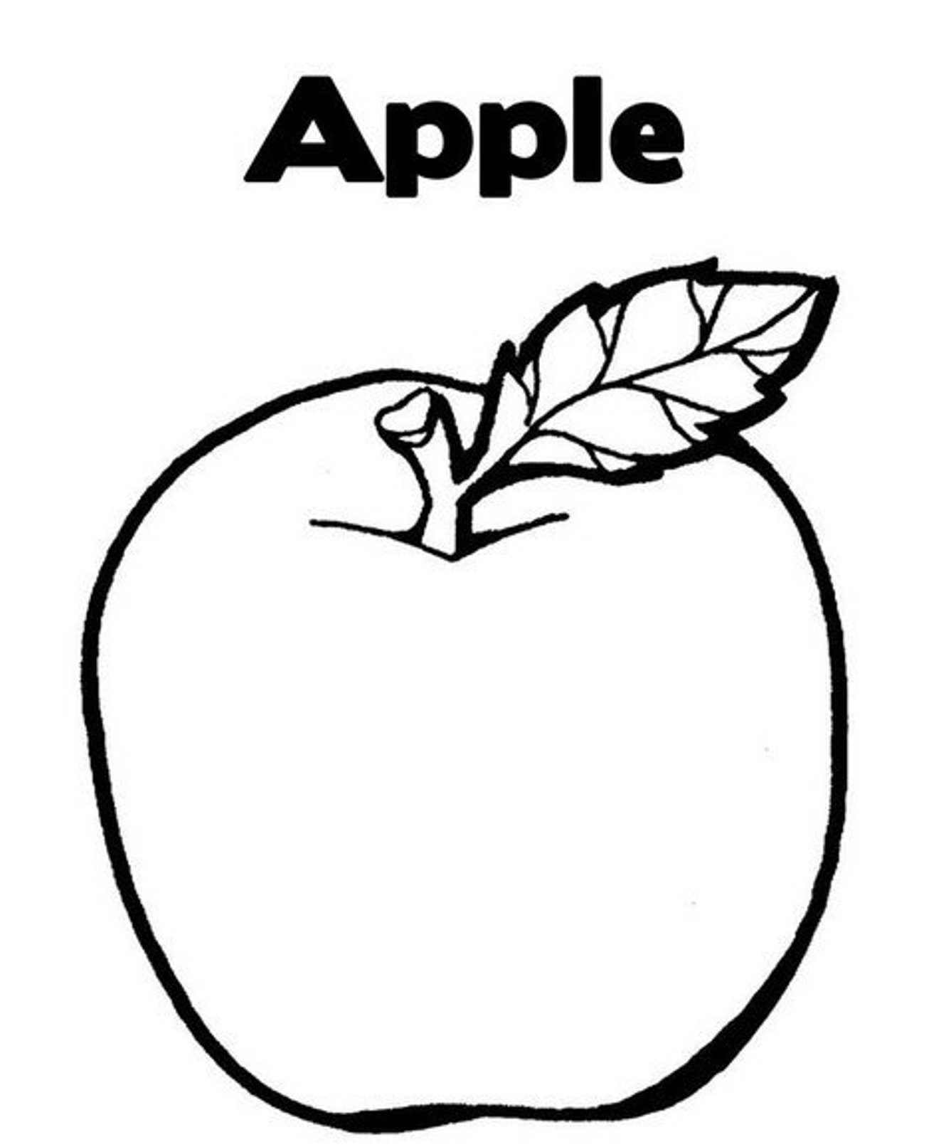 Apple Line Drawing At Getdrawings