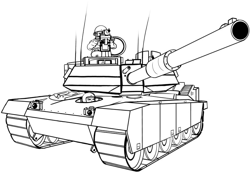 Cartoon Military Tank Drawing