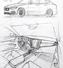 852x1136 car drawing 151206 2015 volvo s60 prisma on paper kim j h cars [ 852 x 1136 Pixel ]