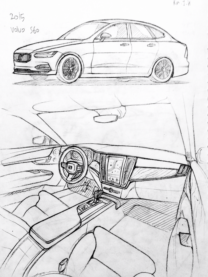 hight resolution of 852x1136 car drawing 151206 2015 volvo s60 prisma on paper kim j h cars