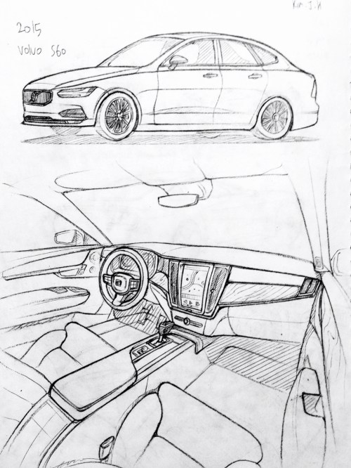 small resolution of 852x1136 car drawing 151206 2015 volvo s60 prisma on paper kim j h cars