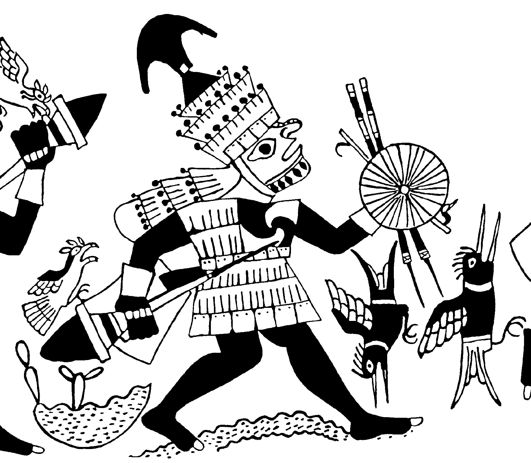 Aztec Eagle Drawing At Getdrawings