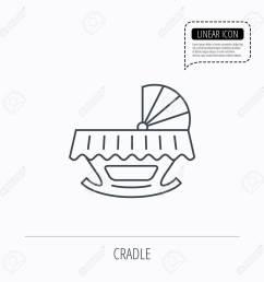 1300x1300 baby cradle bed icon child crib sign newborn sleeping cot symbol [ 1300 x 1300 Pixel ]