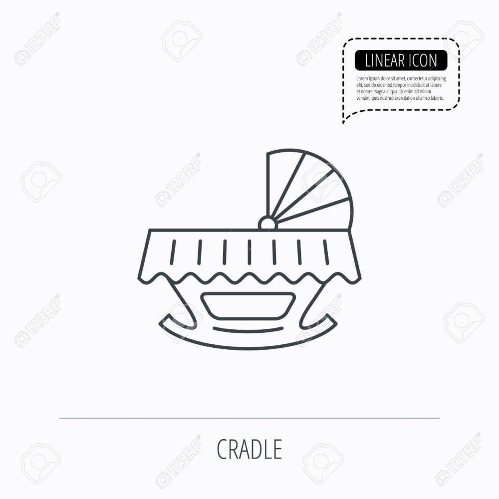 medium resolution of 1300x1300 baby cradle bed icon child crib sign newborn sleeping cot symbol