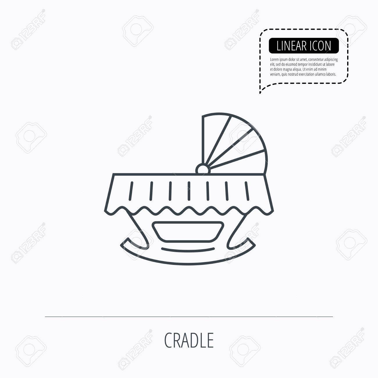 hight resolution of 1300x1300 baby cradle bed icon child crib sign newborn sleeping cot symbol