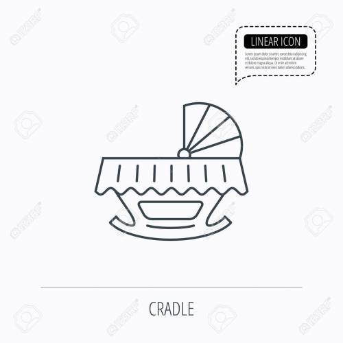 small resolution of 1300x1300 baby cradle bed icon child crib sign newborn sleeping cot symbol