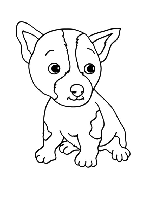 Red Dog 1 Med Coloring Page