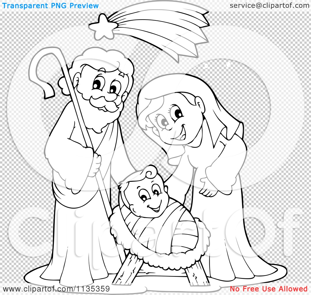 hight resolution of 1080x1024 cartoon of an outlined joseph virgin mary and baby jesus nativity