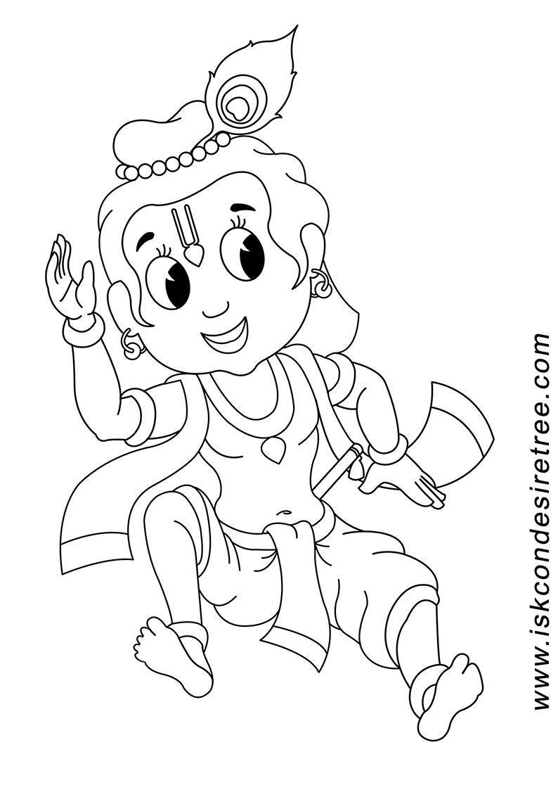 Easy Drawing Lord Krishna Radha Krishna Black And White Png