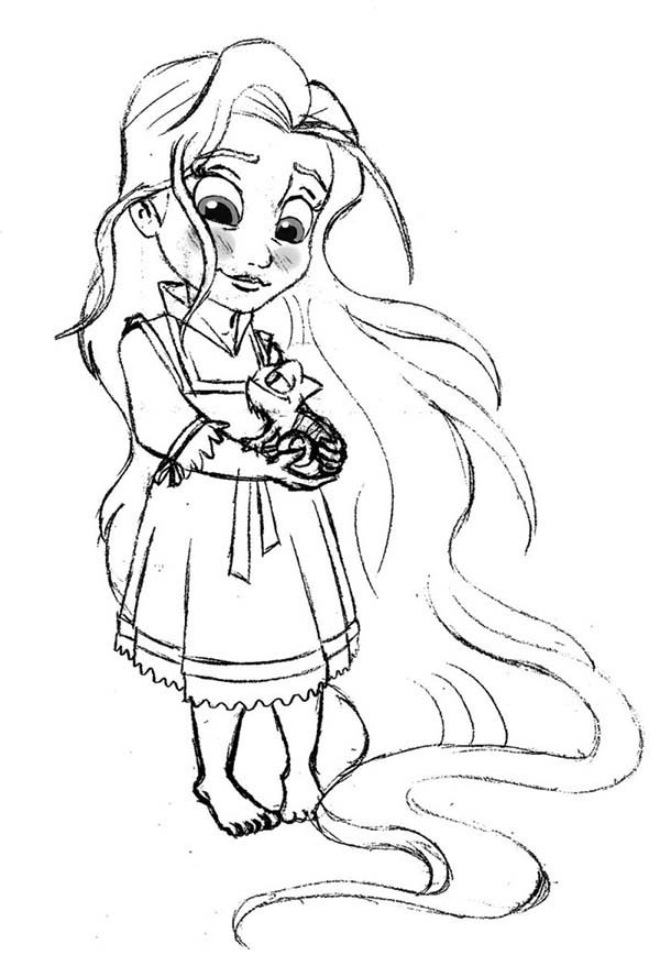 Baby Rapunzel Drawing at GetDrawings Free download