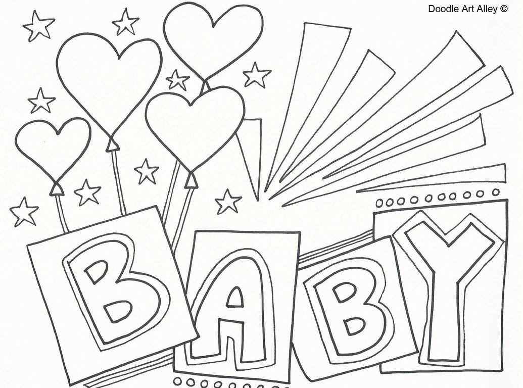 Baby Shower Drawing At Getdrawings