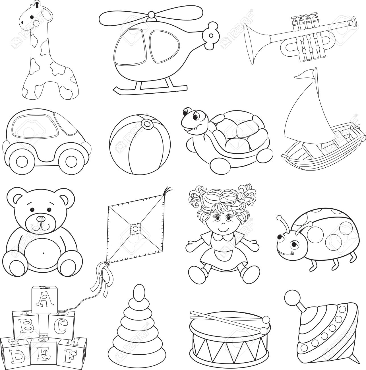 Baby Toys Drawing At Getdrawings