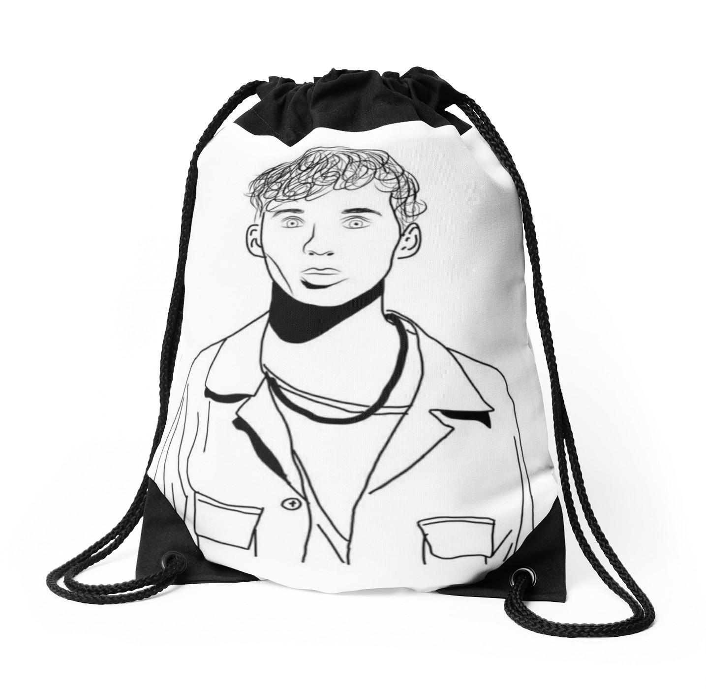 Bag Line Drawing At Getdrawings