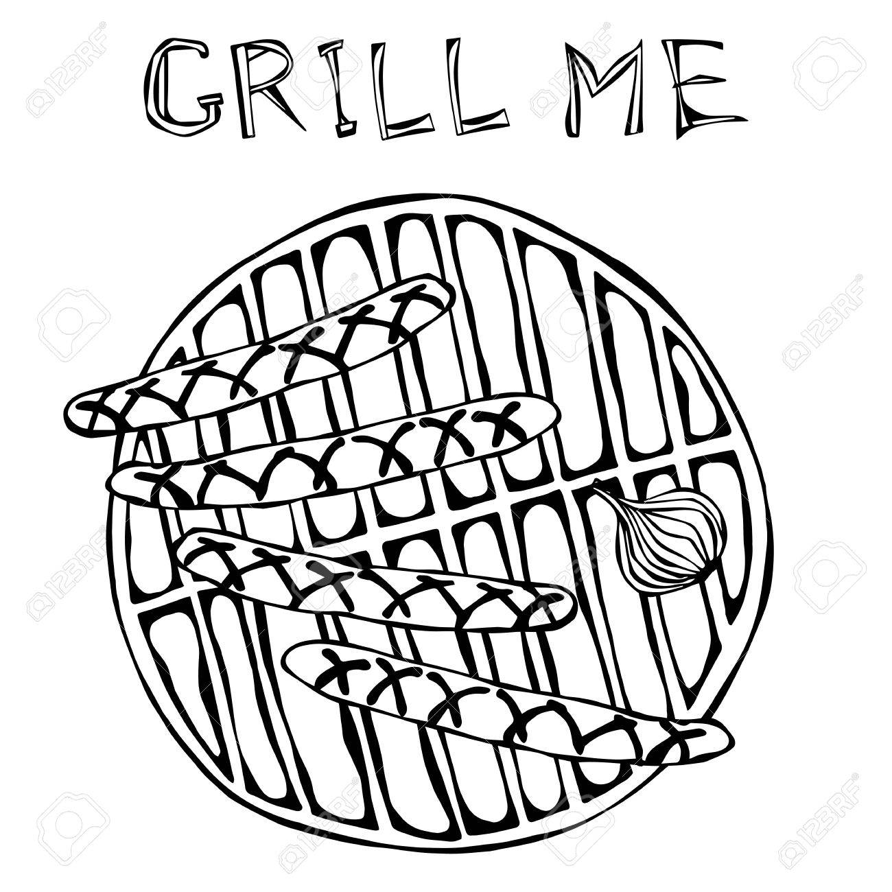 The Best Free Grill Drawing Images Download From 172 Free
