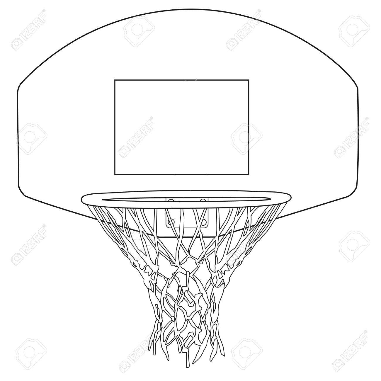 Basketball Backboard Drawing At Getdrawings