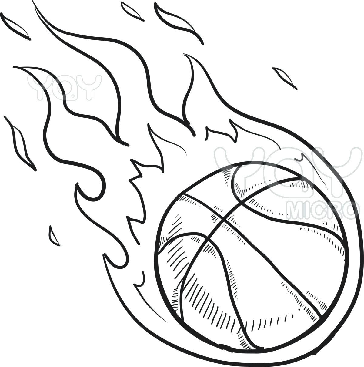 Basketball Court Drawing At Getdrawings