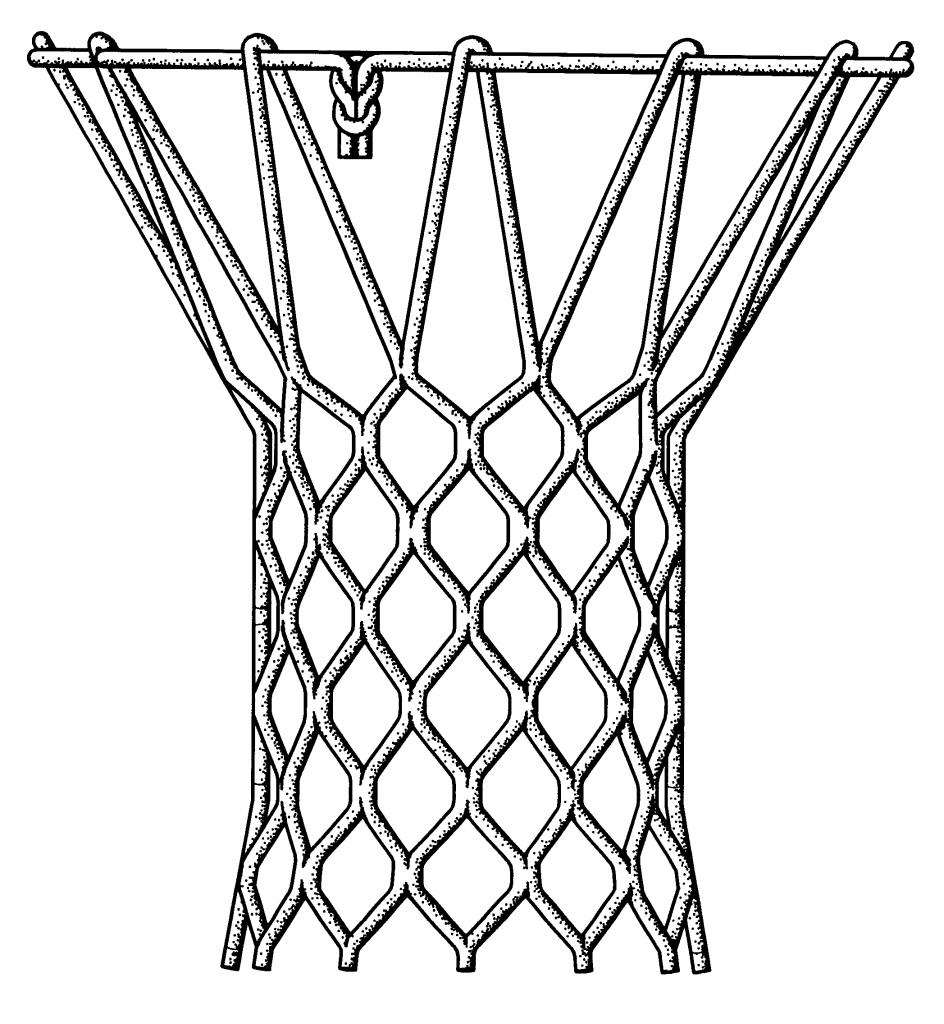how draw basketball hoop net