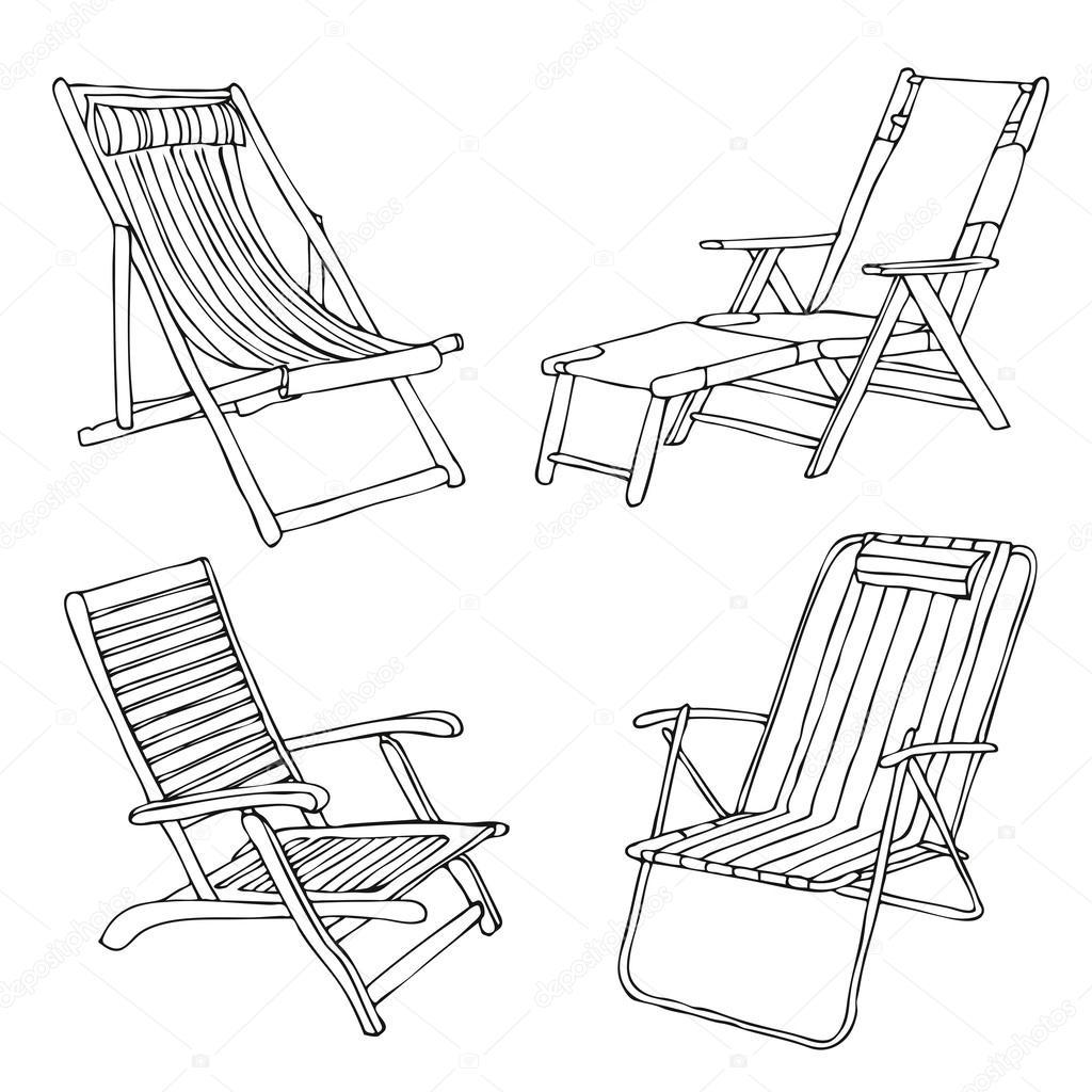 Beach Chair Drawing At Getdrawings
