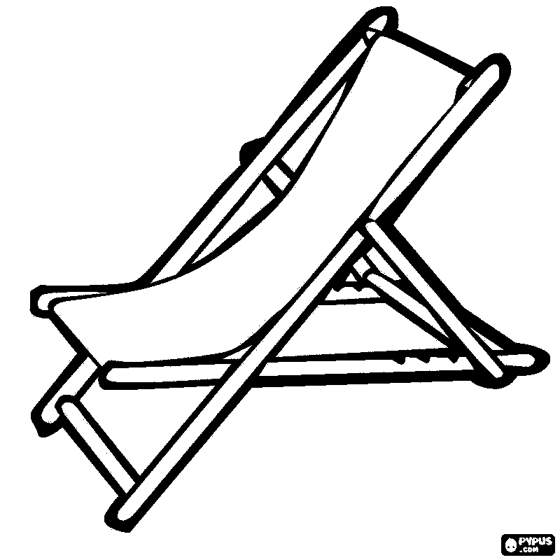 Beach Chair Drawing At Getdrawings Com