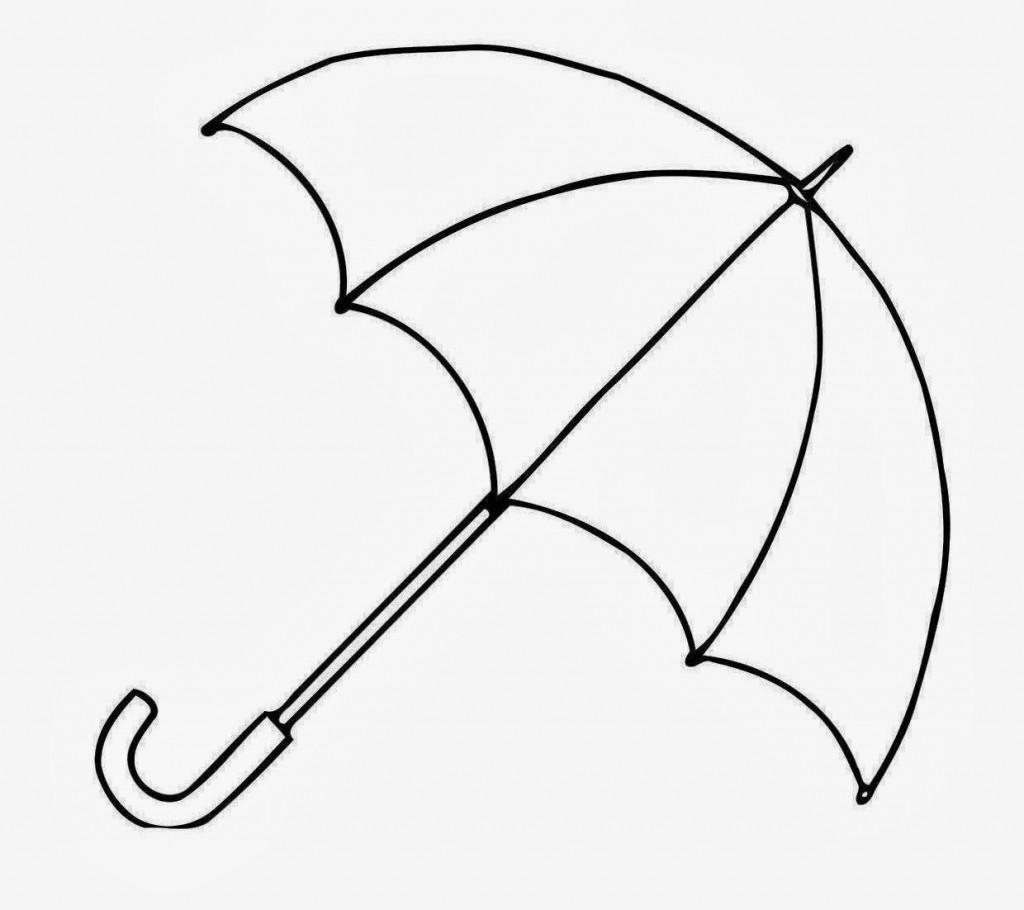 Beach Umbrella Drawing At Getdrawings
