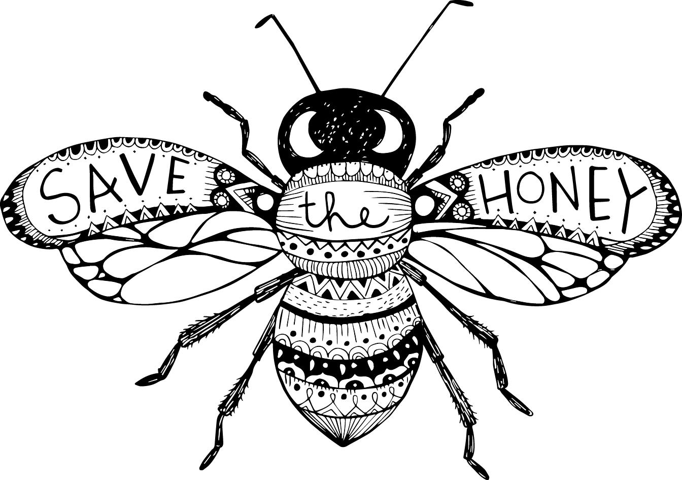 Bees Drawing At Getdrawings